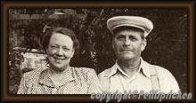 FREDRIKALMGREN  och hans fru ANNA PÅ ÄLDRE DAGAR